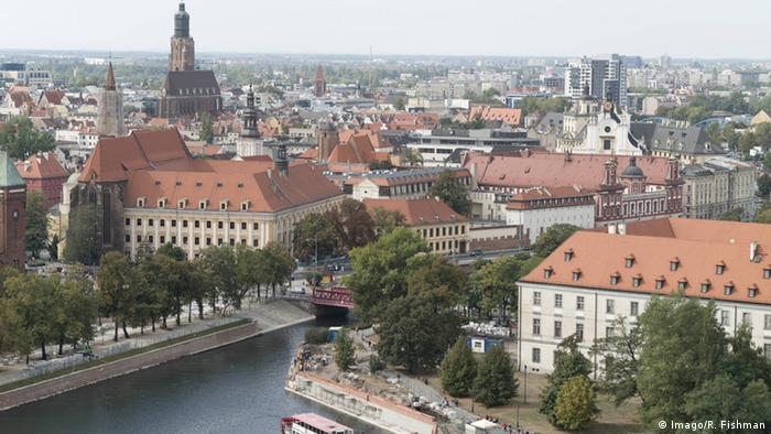 Wroclaw's Old Town seen from above