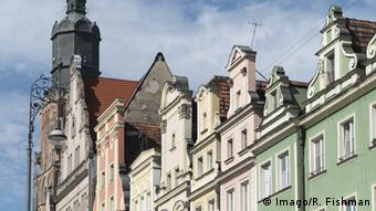 Renovated buildings in Wroclaw's Old Town