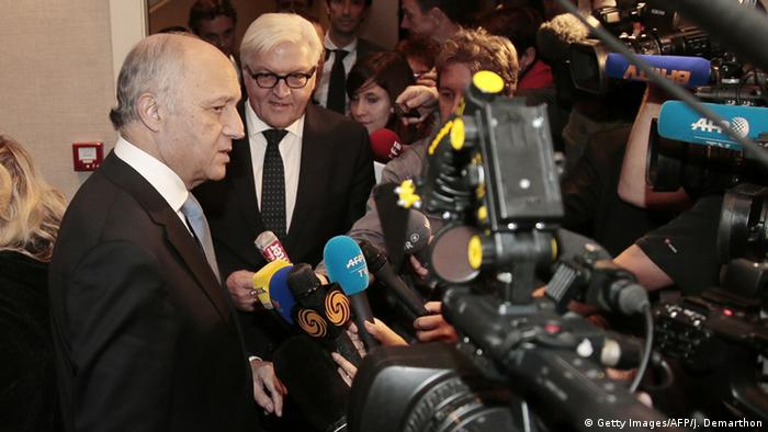 Laurent Fabius and Frank-Walter Steinmeier
