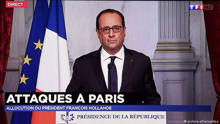 Frankreich Terroranschlag, Hollande bei Frensehansprache