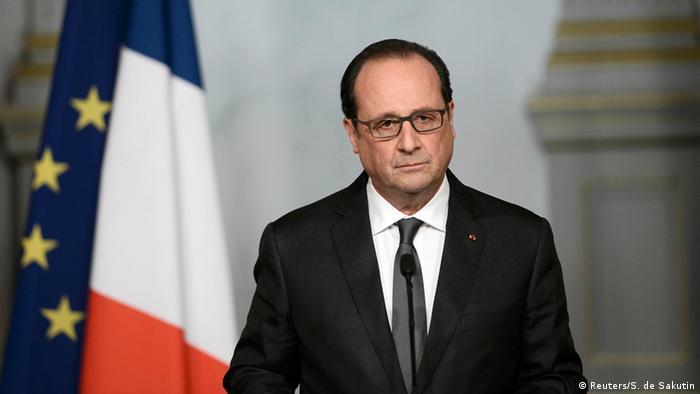 Frankreich Terror in Paris Hollande im Elysee Palast