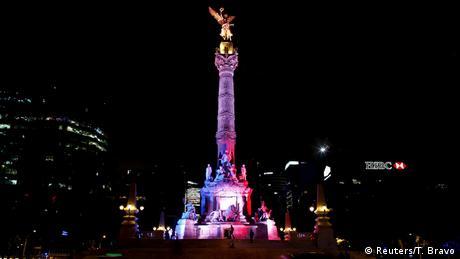 Solidaritätswelle für Frankreich Engel der Unabhängigkeit in Mexiko