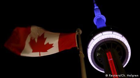 Solidaritätswelle für Frankreich Kanada