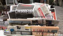 Titelseiten Zeitungen Nachrichten Frankreich
