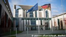 Bundeskanzleramt Flaggen auf Halbmast