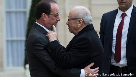 Frankreich Paris Hollande und Essebsi