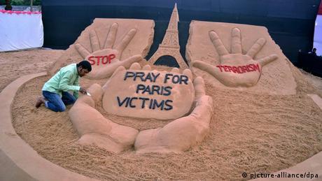 Frankreich Paris Anschlag Gedenken Indien