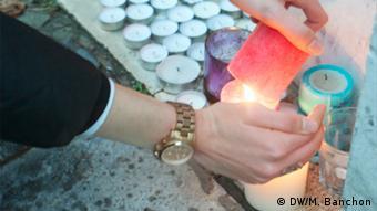 Ένα κερί στη μνήμη των θυμάτων