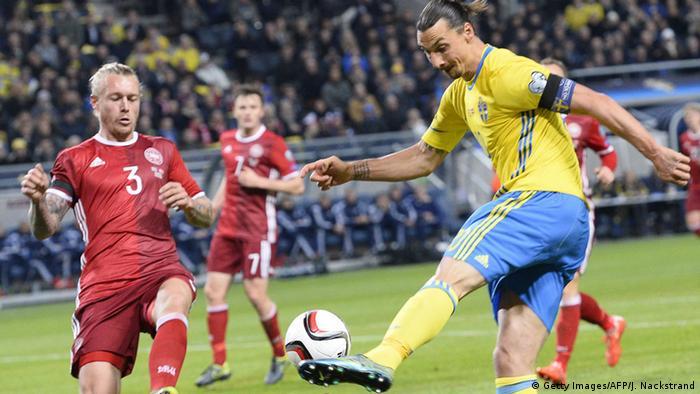 Ібрагімович на кваліфікаційному матчі Швеція - Данія