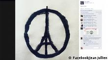 Peace for Paris, Eiffel Tower peace sign by Jean Jullien