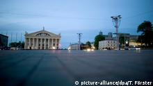 Weißrussland Oktoberplatz in Minsk