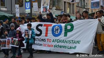Afghan protesters in Munich