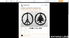 Screenshot Twitter Jean Jullien and Kristian Labak