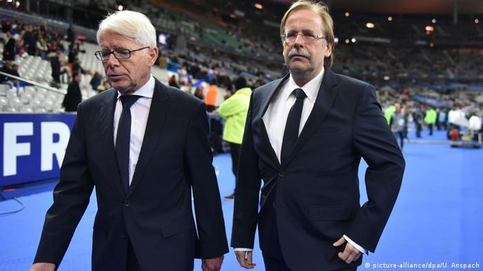 راینر کُخ (Rainer Koch سمت راست در تصویر) و راینهارد رائوبال (ْReinhard Rauball چپ) یک بار از سال ۲۰۱۵ تا ۲۰۱۶ و بار دیگر نیز در سال ۲۰۱۹، پس از استعفای وولفگانگ نیرسباخ و نیز راینهارد گریندل، به طور موقت تا انتخاب رئیس بعدی، مسئول هدایت فدراسیون فوتبال آلمان بودند.