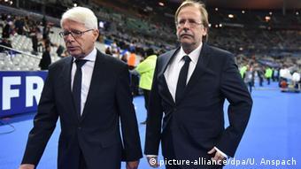 Frankreich Freundschaftsspiel mit Deutschland - Reinhard Rauball & Rainer Koch