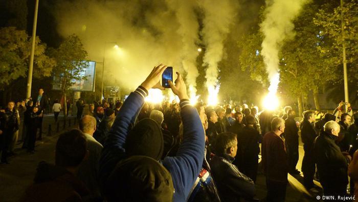 Montenegro Proteste in Podgorica (DW/N. Rujević)