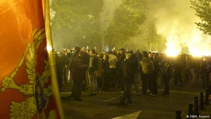 Montenegrins protest in Podgorica