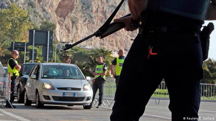 Пограничный контроль на границе Франции и Италии