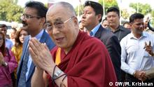 Dalai Lama auf einer Veranstaltung in der indischen Stadt Jalandhar *** DW-Indien-Korrespondent Murali Krishnan, 14.11.2015