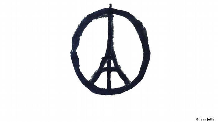 Peace for Paris Peace-Zeichen Eifelturm von Jean Jullien (Jean Jullien)