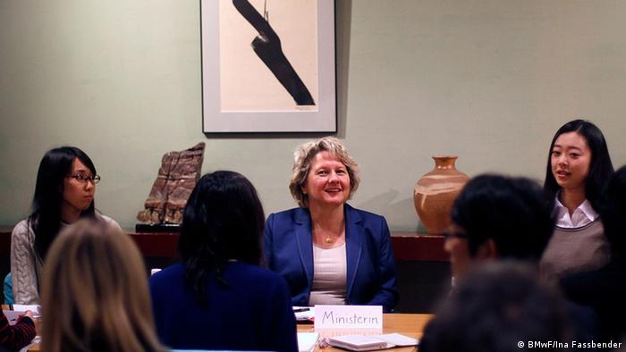 Tokio Doshisha Universität NRW-Wissenschaftsministerin Svenja Schulze (BMwF/Ina Fassbender)