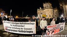 Dresden - Pegida Aufmarsch