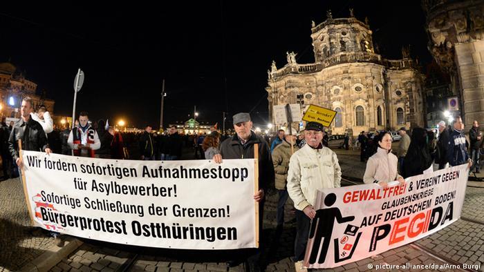 Демонстрация сторонников Pegida