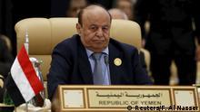 Jemen Präsident Abed Rabbo Mansur Hadi