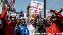 Indien Muslime protestieren gegen Terrorismus