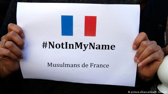Symbolbild #notinmyname Muslime protestieren gegen Terrorismus
