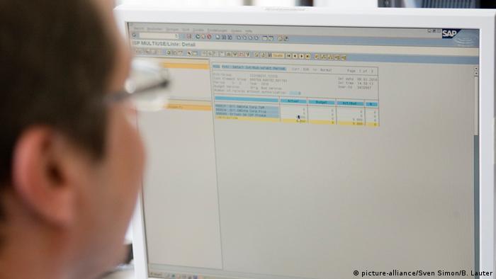 Deutschland SAP Arbeiter in Walldorf