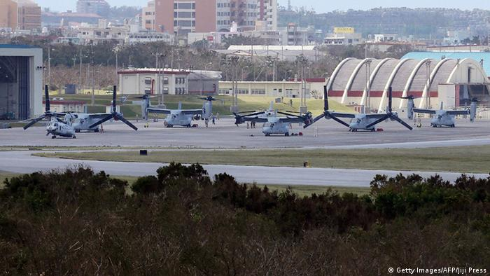US Marine Air Station Futenma in Okinawa