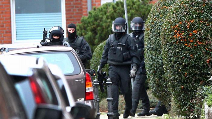 Deutschland Polizei Festnahme in Alsdorf bei Aachen