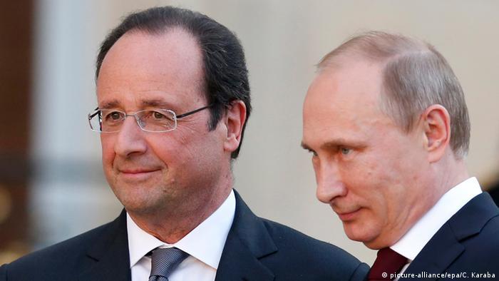 Франсуа Олланд (л) та Володимир Путін (архівне фото)