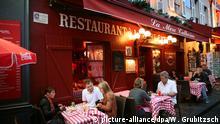 Frankreich Paris Gäste in einem Bistro