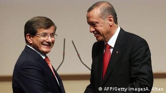 Türkischer Präsident Erdogan mit Premier Davutoglu