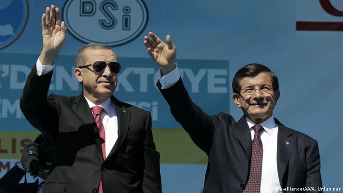 Prime Minister Davutoglu and President Erdogan