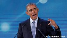 18.11.2015+++ U.S. President Barack Obama speaks during his address at the Asia-Pacific Economic Cooperation (APEC) CEO Summit in Manila November 18, 2015. REUTERS/Aaron Favila/Pool +++ (C) Reuters/A. Favila