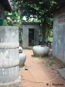 Basic toilets in Cambodia