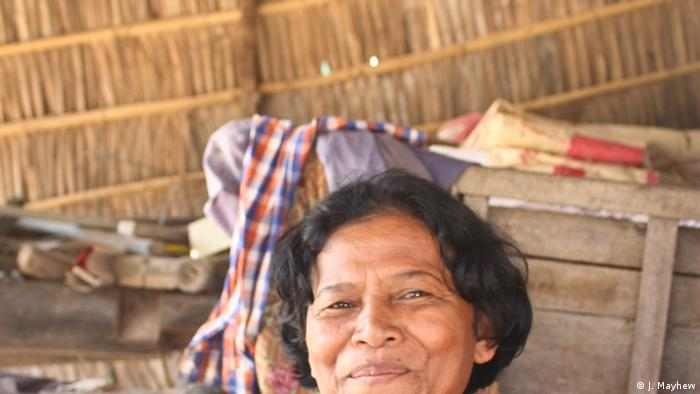 Sok Kun, 57, purchased a toilet for the first time in her life three years ago