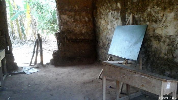 Uma escola primária na província da Zambézia, Moçambique