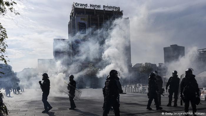 Kosovo - protests in Pristina, Nov. 2015