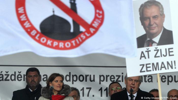 Tschechien Milos Zeman anti-islam Rede in Prag (Getty Images/AFP/M. Cizek)