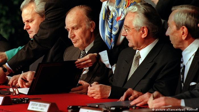 USA Dayton 1995 Slobodan Milosevic & Alija Izetbegovic & Franjo Tuđman