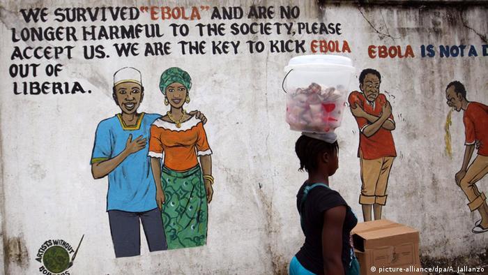 Wandbild zu Ebola-Überlebenden in Liberia