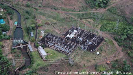 Aerial photograph of Victoria Falls Power Station