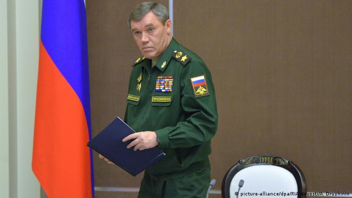 Russland Generalstabschef der russischen Streitkräfte Waleri Gerassimow (picture-alliance/dpa/RIA Novosti/A. Druzhinin)