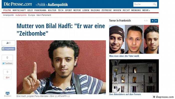 Screenshot Bilal Hadfi Frankreich Paris Attentäter Terrorist ***NUR ALS BILDZITAT ZU VERWENDEN***