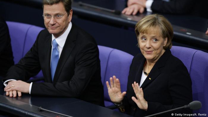 Bundestag 2009 Angela Merkel & Guido Westerwelle (Getty Images/A. Rentz)