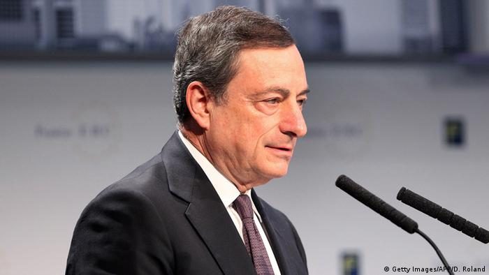 ECB chief Mario Draghi speaking